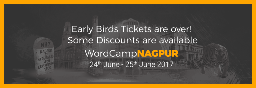 Early Birds Tickets are over! Some Discounts are available.