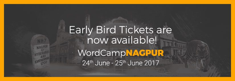 Get your ticket for WordCamp Nagpur